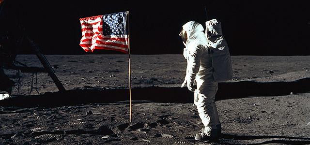 Aldrin en la Luna