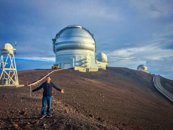 Realizador del Podcast Astronomía y algo más en Mauna Kea, Hawaii
