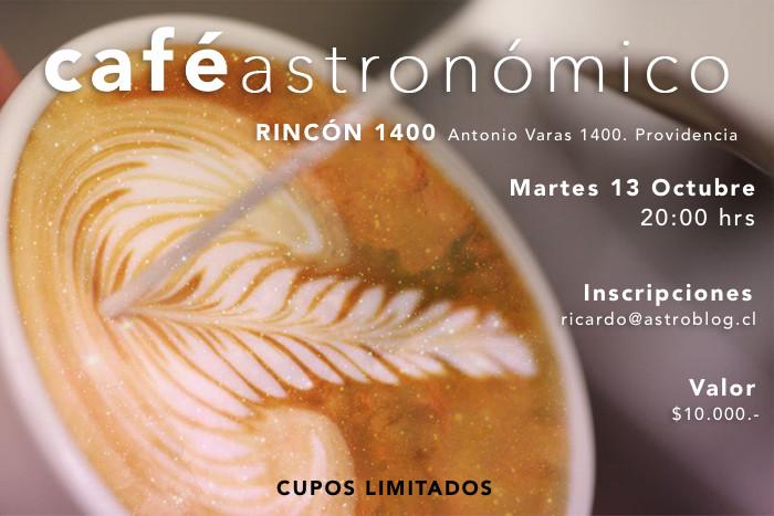 Café Astronómico Martes 13 de Octubre